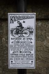 Lots of cycle related events (barronr) Tags: england knaresborough rkabworks sign yorkshire bathgatephotographer