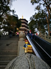 Travels of badger - Leifeng Pagoda in Hangzhou (enigmabadger) Tags: brickarms lego custom minifig minifigure fig accessory accessories travel china chinese vacation