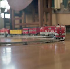 My Dad's Toy Train (John's Vintage Cameras) Tags: rollei tlr twinlens vintage film analog 6x6 square waistlevelfinder xenar minnesota madeingermany