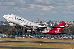 VH-OJT QANTAS Airways Boeing 747-438 34L Sydney Airport SYD/YSSY 11/5/2018 (TonyJ86) Tags: vhojt qantas qantasairways qfqfa b744 b747 747400 747438 flyingkangaroo queen queenoftheskies widebody quadjet aircraft aviation airliner airplane aeroplane plane passenger jet jetliner jetaircraft jetplane passengerplane passengerjet international departure takeoff rotate flight fly airport syd yssy sydneyairport sydneykingsfordsmith sydney nsw newsouthwales australia planespotting avporn aviationporn avgeek travel nikon d750 nikond750 vehicle outdoor aviationphotography tamronsp150600mmf563divcusdg2 tamron jumbo jumbojet
