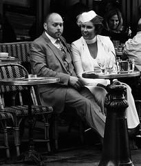 A Parisian Sunday (Professor Bop) Tags: professorbop drjazz olympusem1 parisfrance sidewalkcafe street blackandwhite monochrome people man woman mosca