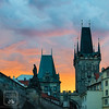 Charles Bridge Tower (fentonphotography) Tags: prague czechrepubic orangesky sunset clouds architecture cityscape landscape bridge charlesbridge