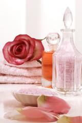 44621 (hd.phone) Tags: bathroom fragrance flacon rose flower blossom decoration aroma aromatherapy dekoration bath bathsalts bottle cosmetic decorative fragrant smallbottle spa towel washing wash wellness