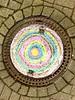 Runde Sache (Frau D. aus D.) Tags: circle kreis iphone outdoor gullideckel chalk kreide round rund colourful bunt roundshapes flickrfriday