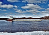 Tiny Tow (DewCon) Tags: towboat meganmcb dramatictone artfilter mississippiriver clouds