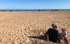 Sunny afternoon on the beach... (Gérard Farenc (slowly back) !) Tags: beach plage valras valrasplage occitanie france europe 34 hérault sable sand light littoral mer sea blue bleu sky ciel extérieur horizon picturesque