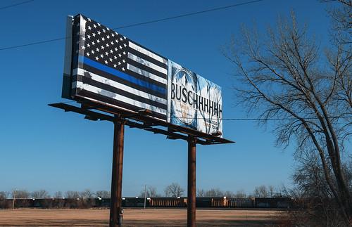 Blue Lives Matter - Busch Beer by Tony Webster, on Flickr