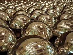 Spheres (DaveKav) Tags: reflection spheres balls lights repetition geometry geometric singapore nationalgallery art yayoikusama
