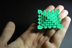 Mini Clover Folding (Arturo-) Tags: clover folding origami papel paper shuzo fujimoto dobradura verde green 5 cinco five mini minúsculo pequeno little 8cm macro