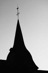 Comme un casque à pointe (.urbanman.) Tags: clocher bretagne ombre contrejour romazy illeetvilaine noiretblanc blackandwhite
