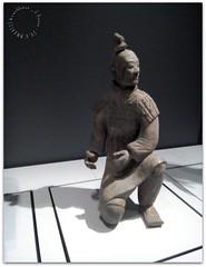Terracotta Warrior (zweiblumen) Tags: terracottawarrior worldmuseum liverpool merseyside england uk china chinese ancient huawei cameraphone zweiblumen picmonkey