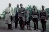 I want to join your gang (theirhistory) Tags: child children kid boy soldiers adults men uniform cap raincoat wellies rubberboots boots mackintosh tie