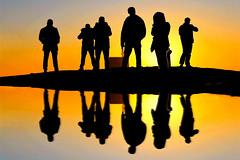 the gang (poludziber1) Tags: beograd belgrade belgrado serbia srbija sunset city silhouettes orange people cityscape urban travel matchpointwinner mpt632