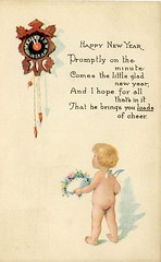 4318 (Ebenezer Maxwell Mansion) Tags: 1900s new year years eve holiday greeting cards postcards design