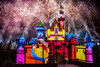 Together Forever — A Pixar Nighttime Spectacular - Disneyland fireworks show - Luxo Ball (a.k.a. Pixar Ball) projection (GMLSKIS) Tags: disney nikond750 anaheim california pixar disneyland fireworks sleepingbeautycastle pixarball luxoball