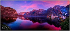 Abendstimmung am Hallstätter See (Karl Glinsner) Tags: landschaft landscape österreich austria oberösterreich upperaustria berge mountains see lake salzkammergut hallstatt hallstättersee lakehallstatt outdoors evening abend wolken clouds rosa pink sonnenuntergang sunset