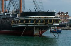 HMS Warrior (Mabu63) Tags: 1860 hmswarrior hampshire hants museum nationalmuseumoftheroyalnavy portsmouth portsmouthhistoricdockyard royaldockyard royalnavy victorian armoured ironclad propellerwell sail steam stern