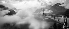 When Your Tides Get Low (Tim van Zundert) Tags: skywalk worldheritageview landscape hallstatt obertraun lake salzkammergut austria europe mountains cloud monochrome blackandwhite panorama sony a7r sel2470z zeiss viewing platform