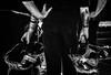 Casques et tatouages.../Helmets and tattoos (vedebe) Tags: noiretblanc netb nb bw monochrome main mains homme humain human urbain urban urbanarte ville city rue street feu pompiers travail