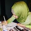 Islamic art making (Widad_UCT) Tags: drawing islamic art making tangling muslim artist writing colouring woman student sketching islam