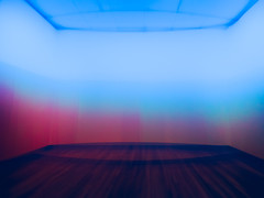 All the World's a Stage (Steve Taylor (Photography)) Tags: stage art digitalart artgallery brown blue red pink pastel wood newzealand nz southisland canterbury christchurch city distorted glow grain perspective texture christchurchartgallery