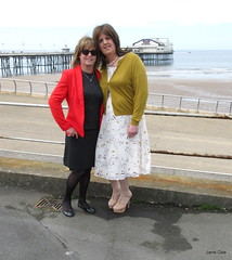 Ah, there you are dearest Jayne xx (janegeetgirl2) Tags: transvestite crossdresser crossdressing tgirl tv ts blackpool stockings heels garters nylons glamour half slip summer cream dress lace tease jane gee crossed legs black peeking