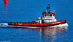 Scotland Greenock arriving in port a tug called MTS Indus that was built in 1964 14 May 2018 by Anne MacKay (Anne MacKay images of interest & wonder) Tags: scotland greenock sea tug mts indus built 1964 xs1 14 may 2018 picture by anne mackay boat ship