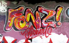 graffiti in amsterdam (wojofoto) Tags: amsterdam nederland netherland holland graffiti streetart amsterdamsebrug hof halloffame flevopark wojofoto wolfgangjosten fonz