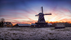 Bolwerkers Mill during Winter Sunset In Deventer The Netherlands (Bart Ros) Tags: mill windmill dutch sky colorful nederland deventer bolwerkersmolen landscape winter