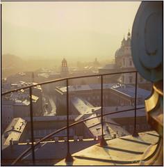 What a wonderful day_Hasselblad_1985 (ksadjina) Tags: 1985 6x6 austria carlzeissplanar80mmf128 fuji100rdpiii hasselblad500cm kollegienkirche oktober salzburg silverfast analog film morningmood scan