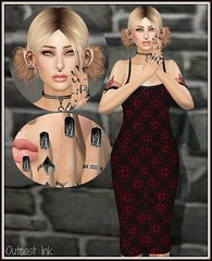 Post #814 (Outcast INK) Tags: sntch 7deadlyskins ebento darkpassionskoffinnails thefantasycollective realevilindustries fameshed swallow kustom9 gossamerjewellery collabor88 truthhair catwa strawberrysingh belleza izzies foxcity secondlife sl
