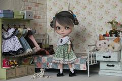 "Dress ""Hedgehog in the grass"" (.Iuliania.) Tags: blythe customblythe custom dress sewing alpaca reroot"