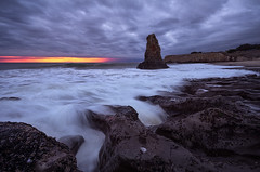 Fingers at low tide (Shane Venem) Tags: davenport low tide seastack rocks sunset clouds beach santa cruz seascape shanevenem