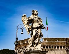 Castel Sant'Angelo Angel (Rob Alter) Tags: castel santangelo angel statue bridge rome italy castle protector