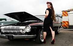 Holly_8841 (Fast an' Bulbous) Tags: pinup model girl woman classic american car mopar hot sexy people outdoor nikon wiggle dress high heels stockings