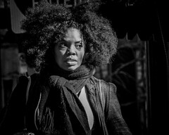 Natural B&W (silvrmn) Tags: textures woman afro africanamerican blackwhite bw dramatic