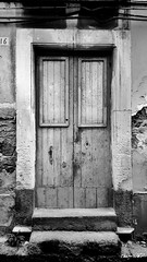 old doors (Massimo Vitellino) Tags: olddoors door wall house structure old city hdr blackandwhite lights shadows abstract contrast conceptual perspective outdoors