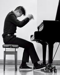 performance (-liyen-) Tags: activeassignmentweekly performer recital concert pianist piano blackandwhite movement blur fujixt2