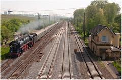01 519 mit Sdz am Abzw. Kostheim (Berliner_77) Tags: trainspotting eisenbahn baureihe 01 519 museumseisenbahn steamtrain germansteam