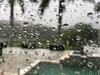 Raindrops (soniaadammurray - On & Off) Tags: iphone raindrops rain exterior look pool deck trees boxes sky water creek phillippicreek macro macromondays