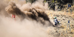 A lot of gas, but no go (maytag97) Tags: maytag97 nikon d750 tamron 150600 150 600 outdoor outside sunny sunshine flag blue red dust compete race dirt hillclimb hill climb sign grass rock stone