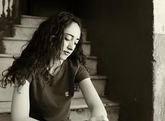 Laura 7 escaleras (El s@lmón) Tags: portrait laura valencia spain retrato bw