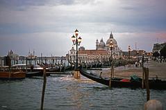 Twilight in Venice (BudCat14/Ross) Tags: venice ektachrome italy italia venezia water architecture sanmarco salute dogana gondolas