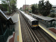 "Long Island Railroad, 05/04/18: a Manhattan-bound train pulls out of the Bayside station (IMG_8798) (Gary Dunaier) Tags: lirr longislandrailroad railroad mta metropolitantransportationauthority trains publictrasportation transportation commuting commuters nyc newyorkcity queens ""queens borough"" county"""