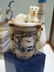 Alabaster Jar with Lioness (Aidan McRae Thomson) Tags: tutankhamun cairo museum egypt ancient egyptian