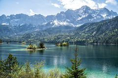Eibsee mit Zugspitze im Frühjahr (stefangruber82) Tags: alpen alps bavaria bayern lake mountainlake bergsee gebirgssee snow schnee berge mountains