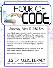 Hour of Code (Lester Public Library) Tags: code coding writingcode computers computerscience 365libs lesterpubliclibrary lpl librariesandlibrarians library libraries lesterpubliclibrarytworiverswisconsin libslibs publiclibrary publiclibraries wisconsinlibraries readdiscoverconnectenrich