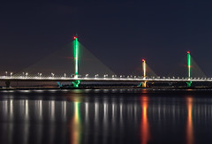 Mersey Gateway (gmorriswk) Tags: bridge widnes england unitedkingdom gb river mersey gateway long exposure runcorn landscape nightscape