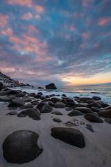 fluffy clouds, solid rocks (mr-flo) Tags: norway fujinon xf1024 sunset fuji xt2 lofoten clouds rocks