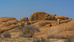 rocks (Karl-Heinz Bitter) Tags: rocks trees namibia africa afrika sky karlheinzbitter landschaft landscape hill felsen spitzkoppe